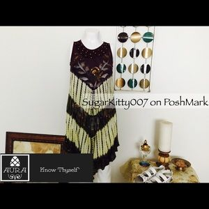 Dresses & Skirts - Chevron Tie Dye Crinkle Crinkle Sun dress